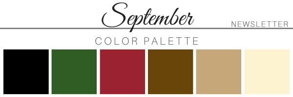 September 2020 Color Palette - A Chair Affair