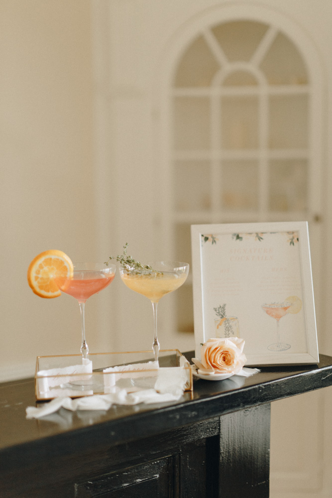 bride and groom signature cocktails