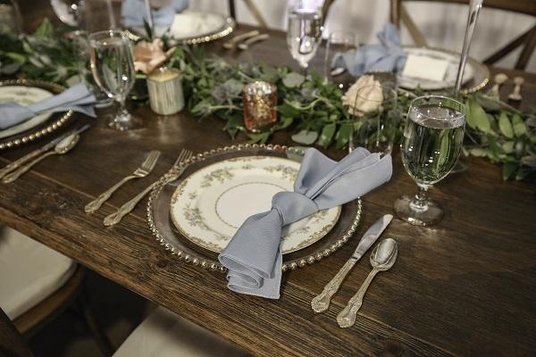Dusty Blue Vintage Wedding, A Chair Affair,