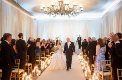 Blue and Gold Ritz Carlton Wedding