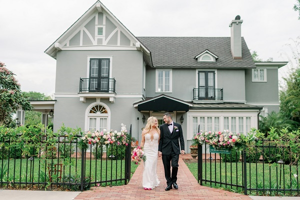 Capen House Pink Garden Party Wedding