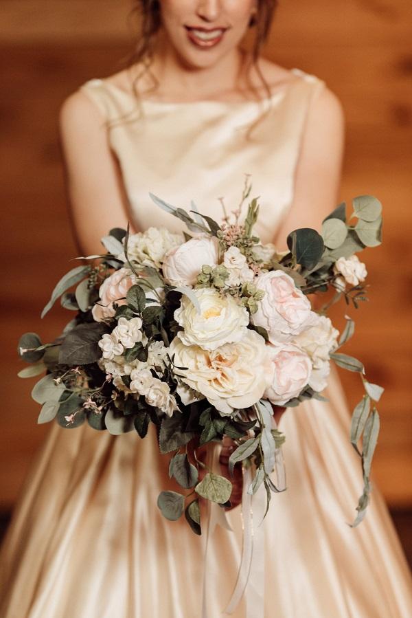 Silk Flower Romantic Styled Shoot