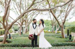 Burgundy & Ivory February Wedding
