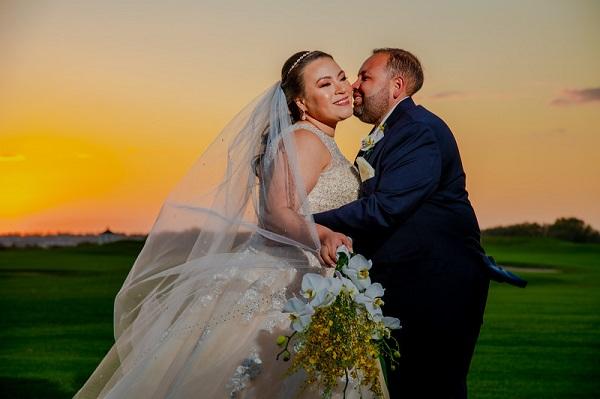 Grey and Yellow Omni Orlando Resort Wedding