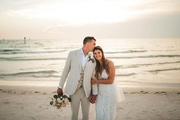 Rustic Clearwater Beach Wedding